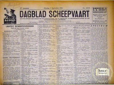 Krant geboortedag  Dagblad scheepvaart (01-05-1972)