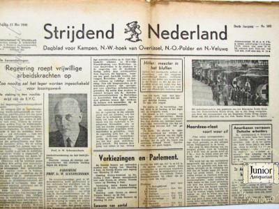 Strijdend Nederland krant geboortedag als jubileumscadeau