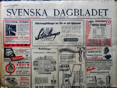 Krant geboortedag  Svenska Dagbladet (25-04-1972)