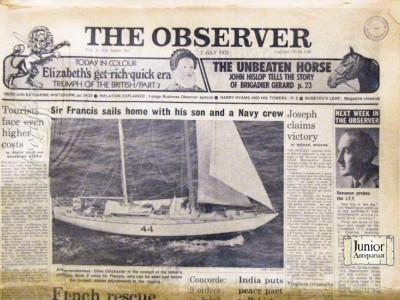 Krant geboortedag  The Observer (14-05-1972)